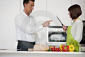 Conflict In The Kitchen Stock Images - Image: 17797694