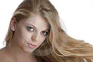 Intense Close Up Of Pretty Teenage Girl Stock Photo - Image: 17797910