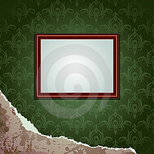 Wallpapers Torn And Frame Stock Image - Image: 17798911