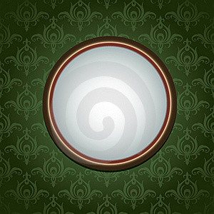Wallpapers Ornament And Round Frame Royalty Free Stock Image - Image: 17798916