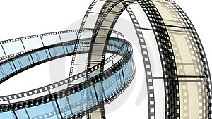 Two 3d Blank Films Ring Stock Images - Image: 17799774