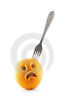 Sad Orange Stock Photo - Image: 1780080