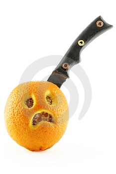 Sad Orange Royalty Free Stock Images