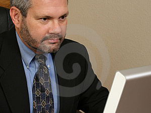At Work Royalty Free Stock Image