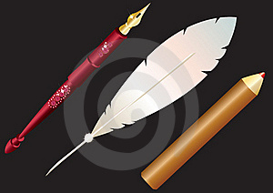 Pen, And Pencil. Stock Photography - Image: 17808302