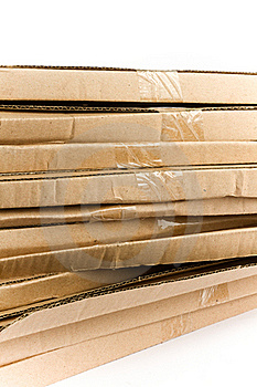 Stacked Flattened Card Board Royalty Free Stock Photography - Image: 17808927