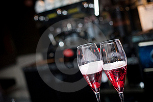 Two Glasses Of Champagne Stock Images - Image: 17809694