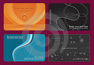 Set Of Colorful Card Royalty Free Stock Photography - Image: 17811027
