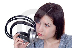 The Girl In Ear-phones Stock Photos - Image: 17811323
