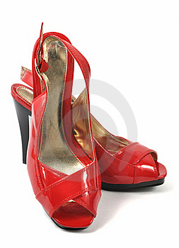 Woman Red Shoe Royalty Free Stock Photos - Image: 17812548