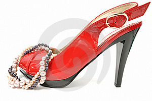 Woman Red Shoe Royalty Free Stock Photography - Image: 17812557