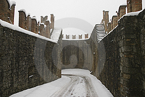 Ancient Walls Of The Castle Royalty Free Stock Photo - Image: 17812955