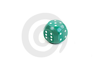Green Plastic Dice Royalty Free Stock Photo - Image: 17814895