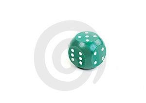 Green Plastic Dice Royalty Free Stock Photo - Image: 17814895
