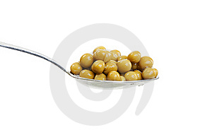 Spoon With Green Peas Stock Images - Image: 17815064