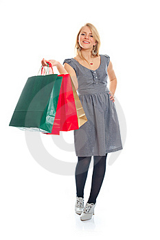 Lovely Blond With Shopping Bags Stock Image - Image: 17815151