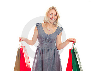 Lovely Blond With Shopping Bags Stock Photos - Image: 17815163