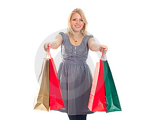 Lovely Blond With Shopping Bags Stock Photo - Image: 17815180