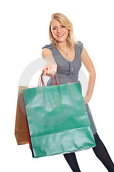 Lovely Blond With Shopping Bags Stock Photo - Image: 17815200