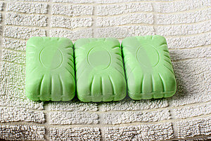 Soap On Towel. Royalty Free Stock Photos - Image: 17815778