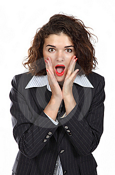 Business Woman Screaming Stock Photography - Image: 17815962