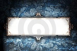 Rectangular Frame With Curls. Stock Photos - Image: 17816553