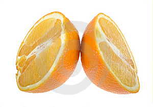Orange Cut Royalty Free Stock Images - Image: 17817869