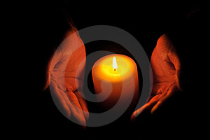 Candle In Hands Royalty Free Stock Photos - Image: 17820338