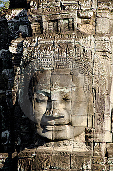 Bayon Face, Cambodia Royalty Free Stock Images - Image: 17822159