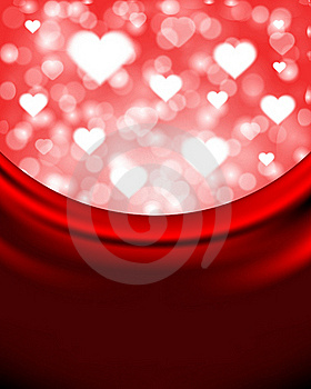 Flying Hearts On Silk Royalty Free Stock Images - Image: 17822469