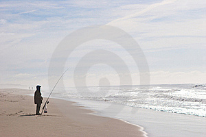 Fisherman At The Shore Of The Ocean Stock Images - Image: 17823614