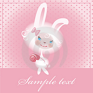 Beloved Bunny With A Rose Royalty Free Stock Image - Image: 17826036