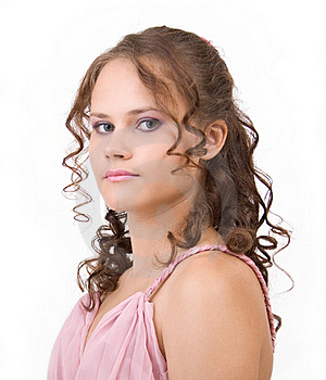 Curly Hair. Royalty Free Stock Photo - Image: 17828185