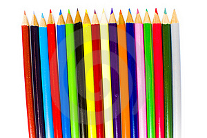 Sharpened Tips Of Bright Coloring Pencils Stock Images - Image: 17829314