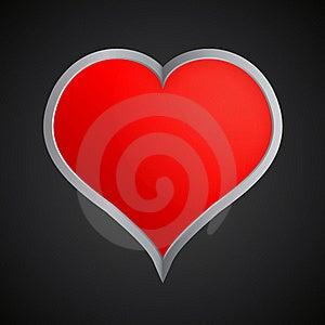 Metallic Heart Image Stock Photos - Image: 17829613