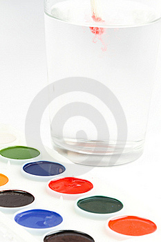 Watercolor Hobby Paint Stock Photos - Image: 17829723