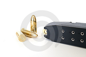 Magazine With 9mm Bullets Stock Photo - Image: 17829970