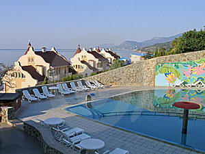 Mansions With Tiled Roof At Black Sea Shore Stock Images - Image: 17831374