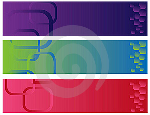 Abstract Color Banner Illustration  Stock Photography - Image: 17831782