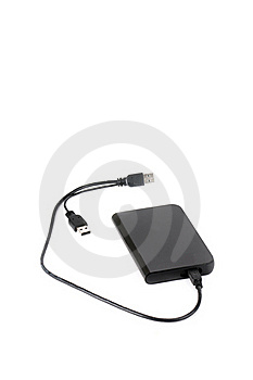 Portable External Hard Disk Drive Stock Photo - Image: 17832190
