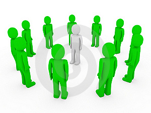 3d Human Circle Green White Stock Image - Image: 17833281
