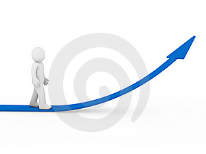 3d Human Arrow Success Growth Blue Stock Image - Image: 17833301