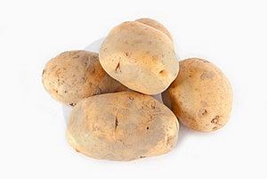 Potatoes Isolated On White Royalty Free Stock Image - Image: 17834736
