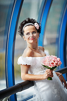 Happy Bride With A Wedding Bouquet Stock Photos - Image: 17835083