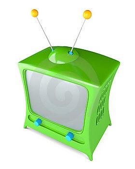 Cartoon Styled Tv Stock Image - Image: 17835201