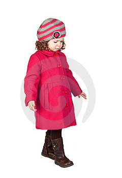 Smiling Baby Girl With Pink Coat Royalty Free Stock Image - Image: 17837156