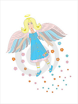 Flying Angel In The Sky. Royalty Free Stock Photography - Image: 17837747