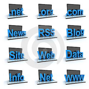 Laptop Icon Set Royalty Free Stock Images - Image: 17837919