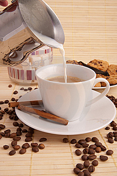 Coffee And Milk Royalty Free Stock Images - Image: 17838829