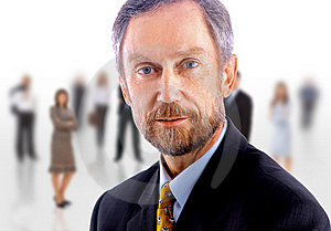 Business Man And His Team Royalty Free Stock Photos - Image: 17844088